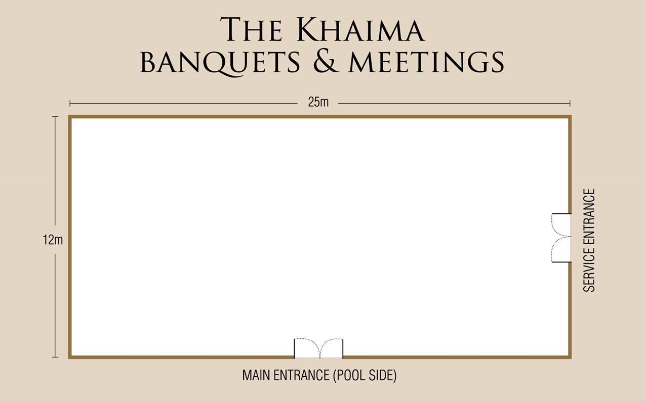 The Khaima Banquets & Meetings Floor Plan