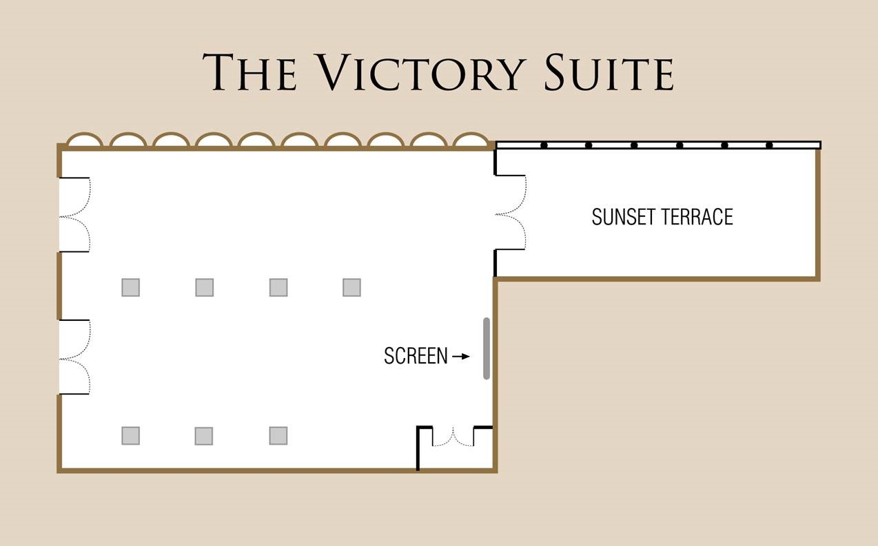 The Victory Suite Floor Plan for The Rock Hotel